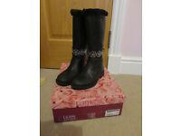 Lelly Kelly Black Winter Boots Size EUR 30 (Approx UK 11/11.5)