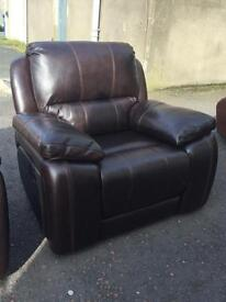 Ex-display**Genuine quality brown 3+1+1 fully reclining suite ONLY £1250--CALL TODAY!!