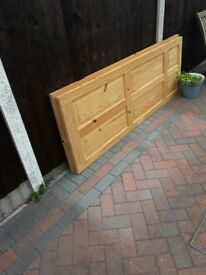 2 pine type internal doors 1965 x 762 x 35 and 1965 x 735 x 35 £20 for both