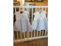 3-6 month matching twin girls outfits