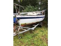 DEE 6 Sailing boat trailer sailer yacht with custom road trailer like hunter 20 club racer
