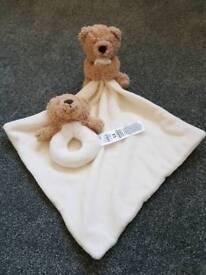 Brand New - Unused Rattle & Comforter