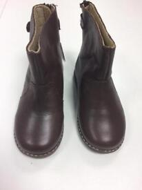 NWT Zara Baby Girl Brown Leather Boots - Size 5