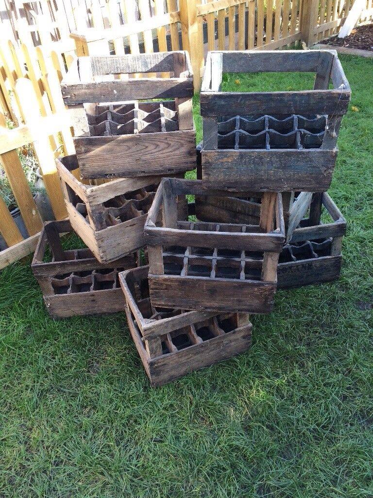 Vintage original French wine crates