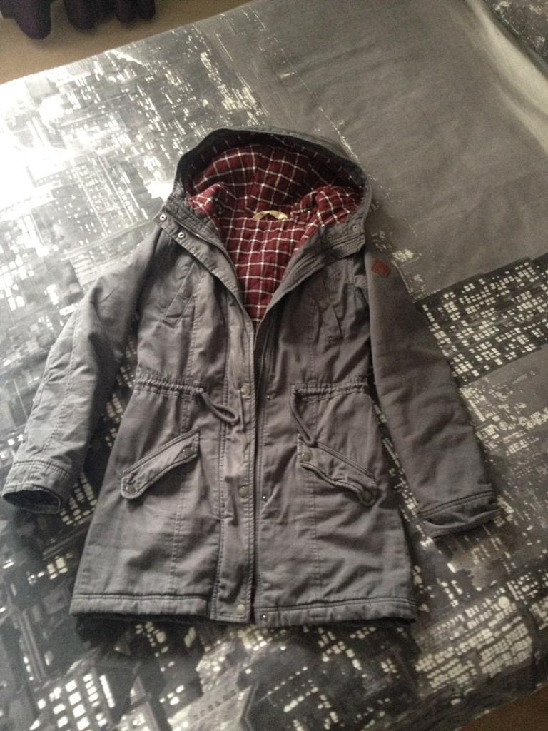 Ladies/girls hollister duffle coat (s)