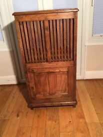 Antique Colonial Solid Teak Blanket/Linen Tall Storage Unit, c1920 Anglo Indian