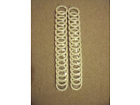 NEW/sealed packaging 2 pks ea 15 white wood curtain rings int. measurement 45mm.£8 both/£5 each