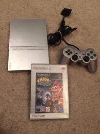Slim ps2 console and crash bandicoot