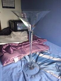 8 Large Martini Glass Decorations