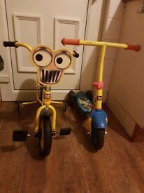 Bob the Builder kids scooter and bike1