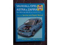 VAUXHALL/ OPEL ASTRA/ ZAFIRA HAYNES SERVICE MANUAL
