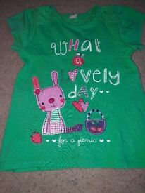 Girls green summer tshirt