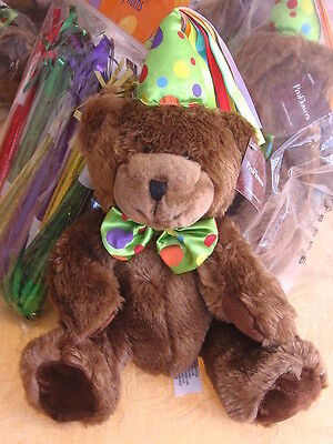 ProFlowers HAPPY BIRTHDAY TEDDY BEAR Choc BROWN PLUSH Stuffed Pro Flower NWT NEW - Bear Birthday