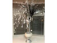 Pearl Shell Vase (Artificial Flowers Included)