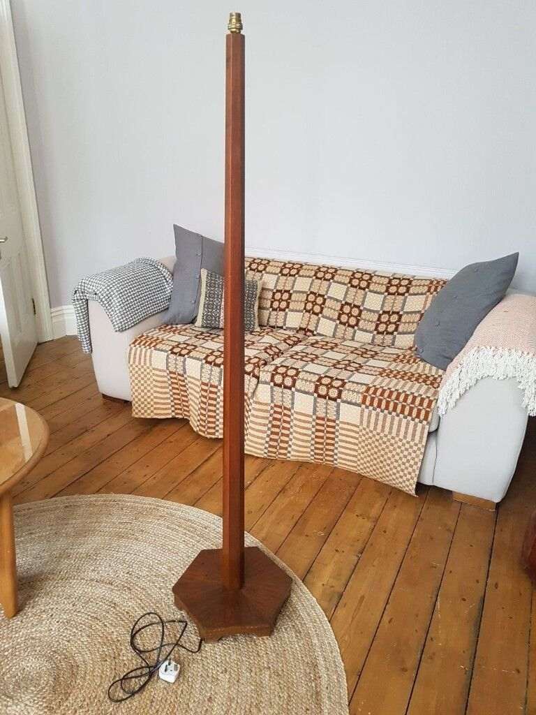 Retro Vintage Timber Floor Lamp Base