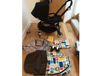 Bugaboo Bee + Plus All Black Edition+Adapter+Bugaboo Paul Frank in Excellent Condition