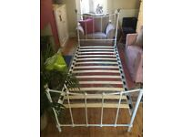 Single bed frame white metal needs to go urgently!