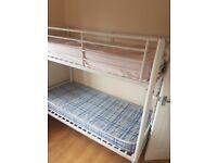Small single metal bunk beds