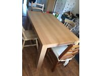 Large Dining / Kitchen Table plus 4 Chairs