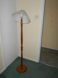 Tall standing light with lampshade