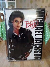 Framed Michael jackson Bad poster