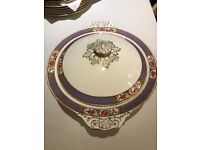 Rare Art Deco Britannia Pottery: Scotch Ivory Collectable China 19 piece in great condition