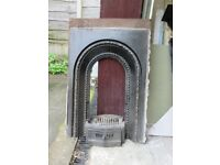 Two cast iron victorian fireplaces