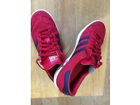 Boys adidas red Hamburg trainers