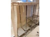 Six wardrobes, one shoe rack for sale
