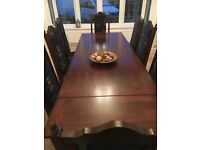 Winchester Oak hardwood dining table and 8 chairs