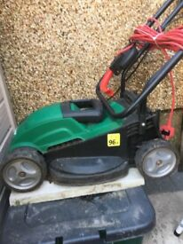 small qualcast mower and strimmer.