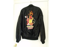 country and western music designed zipped black jacket - medium -ideal for fancy dress