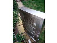 Stainless steel cooker hood extraction