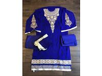 Un-sewn Asian outfit