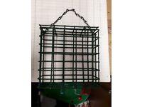 Bird feeder food block cage