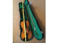 Small size violin in a case