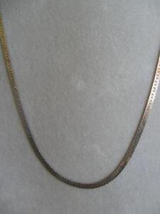 EYE-CATCHING 22-IN MUTED GOLDTONE PATTERNED NECKLACE