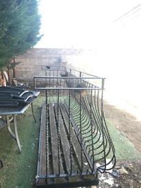 Wrought iron double balcony