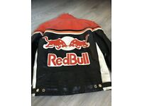 Retro Red Bull Leather Jacket size S/M
