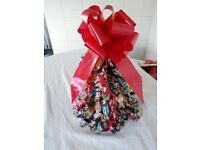 Chocolate Christmas trees + wreaths! Also cones + cups!