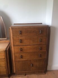 Collection only-REDUCED oak Talboy with cupboard at bottom