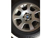 BMW Alloys with winter tyres 225/55/16