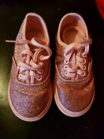 Girls glitter vans £10 size 7