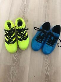 Children's Adidas football boots - two pairs