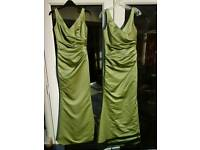KELSEY ROSE SAGE GREEN BRIDESMAID / PROM DRESS, SIZE 6, FULLY LINED, EXCELLENT COND