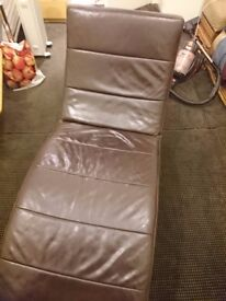 Real leather brown gamer chair