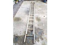 2 Section Wooden Ladder 22ft.