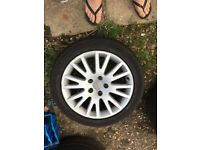 Vw t4 17 inch alloy wheels and nearly new tyres