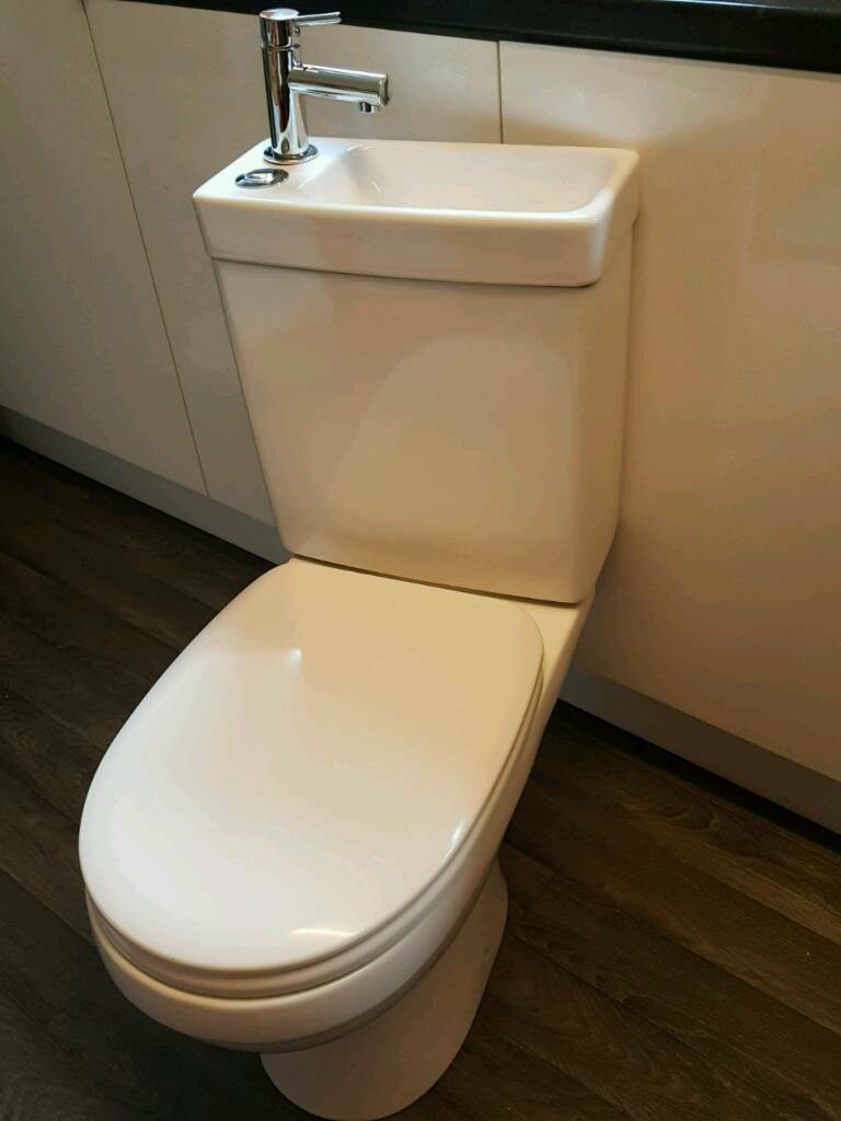 Cooke & Lewis DUETTO close coupled toilet and sink combined | in ...