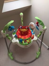 Fisher Price Rainforest Jumperoo Baby Bouncer Great Condition